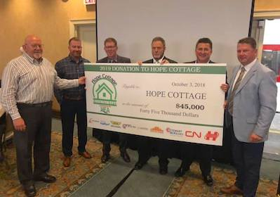 HEA Hope Cottage Cheque Presentation