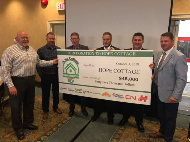 HEA Drive for Hope Cottage Cheque 2018