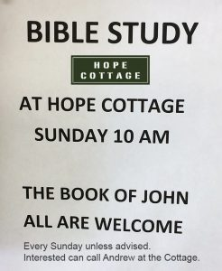 Bible Study at Hope Cottage with Andrew